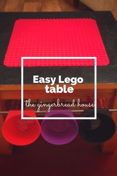 Use BYGEL rails to turn a table into a Lego Duplo table.