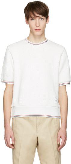 Thom Browne - White Rib Cuff T-Shirt