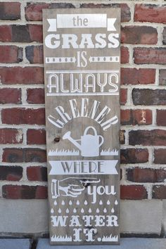 The Grass is Always Greener Sign and a Silhouette Promo - some elegant rustic appeal for any room #decor #DIY