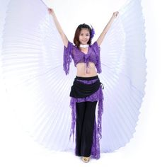 BellyLady Belly Dance Costume Rainbow Silky Wing $29.99 (save $30.95)