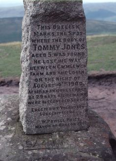 The Tommy Jones obelisk, Pen Y Fan, Brecon Beacons