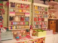 Sewing room by wildolivekids, via Flickr  I love it when you can see what someone loves