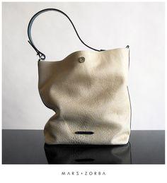 Mars+Zorba Olympia Cream Hobo #calfskin #leather #handbag #design #fashion #cream #grainedleather #charol #jade #moda #buenosaires #carteras #cuero