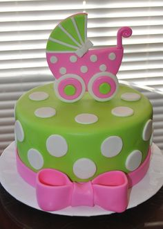 Baby Carriage Cake - only Pink &  Brown