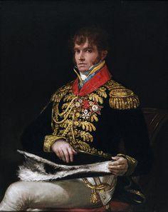 ,.Portrait of Nicolas Philippe Guye - est un général français de la Révolution et de l'Empire.- Francisco Goya, 1810