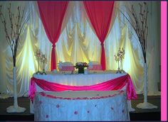 Bride and Groom Table..with a softer pink