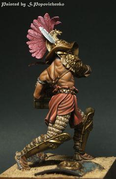 Thraex by SergeyPopovichenko · Putty&Paint Gladiators Of Rome, Roman Gladiators, Sparta Warrior, Stormcast Eternals, Roman Warriors, Roman Era, Military Figures, Fantasy Character Design, Men In Uniform
