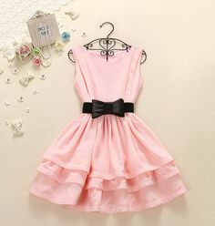 Cute Short Dresses With Bowknot, Sw