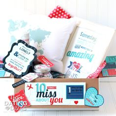 Long Distance Love Care Package- 10 Things I MISS About You! Such a sweet…