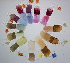 Autonopedia website shares how to create amazingly vibrant natural dyes from plants, berries, beans, flowers, nuts and even tea bags in your own home. The Fabric Painting, Fabric Art, Shibori, Natural Dye Fabric, Natural Dyeing, Tea Bag Art, Tea Art, Diy Inspiration, Colour Inspiration
