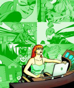 """ comic book meme ➝ female characters "" Barbara Gordon - Batgirl/Oracle I'm Oracle, I know everybody. Batgirl And Robin, Dc Batgirl, Batwoman, Nightwing, Batman Robin, Comic Book Characters, Female Characters, Comic Books, Comic Art"