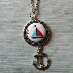Nyaklánc textil medállal - hajó Personalized Items