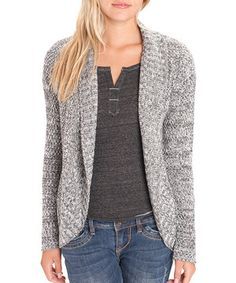 Another great find on #zulily! Gray Marled Open Cardigan by UNIONBAY #zulilyfinds