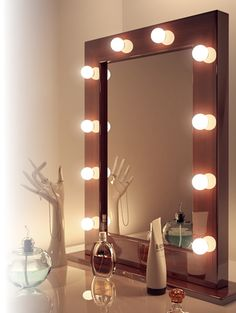 theater mirror hollywood mirror vanity mirrors by funktionalist stuff pin. Black Bedroom Furniture Sets. Home Design Ideas