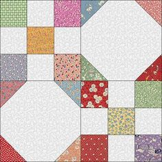 """Instructions for the Nine-Patch/Snowball block. Uses 2.5"""" square scraps plus white or other neutral."""