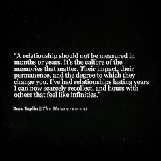 Beau Taplin | The Measurement