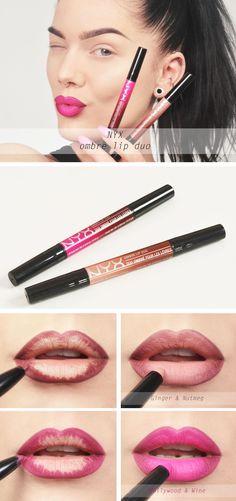 lip colors how to pick Simple Makeup Looks, Pretty Makeup, Love Makeup, Makeup Inspo, Makeup Tips, Nyx Ombre Lip Duo, Nyx Lip, Makeup Is Life, Lip Colour