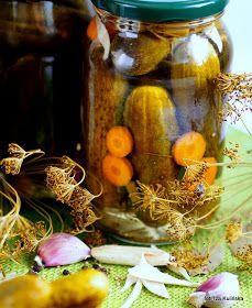 Smaczna Pyza: Najlepsze ogórki konserwowe. Ogórki po warszawsku. Preserves, Pickles, Cucumber, Veggies, Table Decorations, Painting, Food, Recipes, Preserve