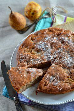 Gâteau aux noix et poires