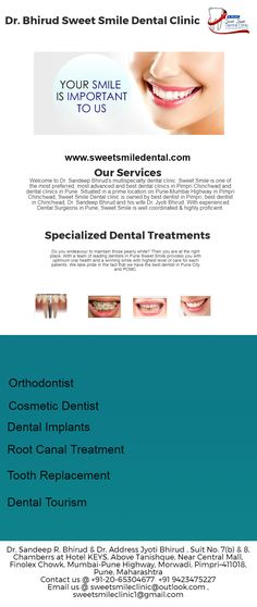 Looking for Best Dentists in Pimpri Chinchwad? Sweet Smile Dental clininc is known for the team of best dentists in Pune who are experts in cosmetic dentistry, dental implants, root canal treatments. Book an appointment today.