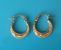 Renaissance gold filled earrings by sassonorly on Etsy