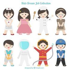 Colección de niños disfrazados