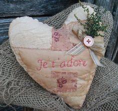 Primitive Pink Valentine Mothers Day Romantic by CaneRiverCrafts