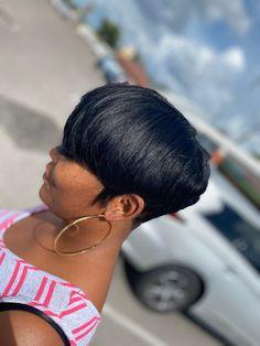 Natural Hair Short Cuts, Short Sassy Hair, Girl Short Hair, Short Hair Cuts, Natural Hair Styles, 27 Piece Hairstyles, Short Relaxed Hairstyles, Pretty Hairstyles, Curly Pixie Haircuts
