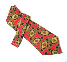 Hardy Amies Silk Tie Red Bold Geometric Multicolor Saville Row London for the carefree guy $10.00