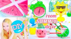 In this video I show how to make Room Decor DIYs for Summer. DIY Watermelon Wall Art, DIY Glass Fruits (candle jars and pencil holders), easy DIY Table Fan w...
