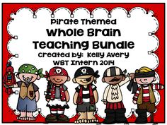 """This bundle is a freebie and includes EVERYTHING you need to enter into """"Teacher Heaven"""" as Coach B. would say! It was created in a pirates theme with adorable clipart provided by Melonheadz!"""