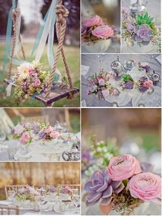 Pastel wedding flowers. Soft and pretty