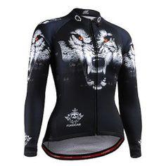 Fixgear womens cycling team jersey bike clothing tight sports wolf shirts S~2XL