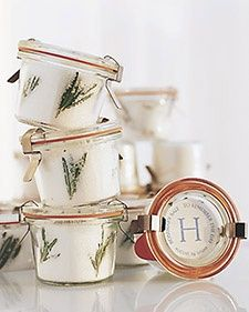 Rosemary Sea Salt Favor   Step-by-Step   DIY Craft How To's and Instructions  Martha Stewart