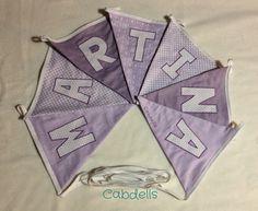 Banderín en lilas - Martina Violet bunting for Martina