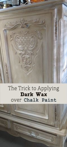 Home Interior Farmhouse Trick to Applying Dark Wax Over Chalk Paint on Furniture.Home Interior Farmhouse Trick to Applying Dark Wax Over Chalk Paint on Furniture Furniture Projects, Furniture Makeover, Diy Furniture, Antique Furniture, Furniture Stores, House Furniture, Furniture Design, Dresser Makeovers, Bedroom Furniture