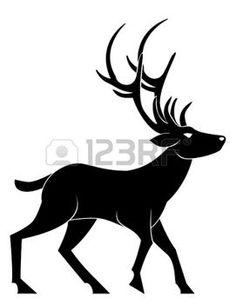 natale bianco e nero: cervo a piedi