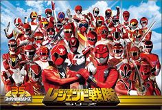 ALL of the red power rangers/sentai!