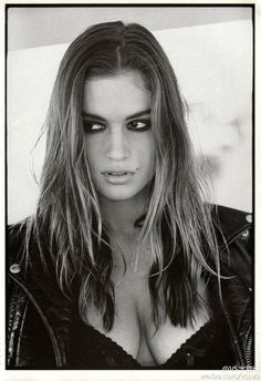 """#Cindy Crawford# for Vogue Italia October 1988, """"Dolce Provocante Disinibita Cindy"""". By Arthur Elgort."""