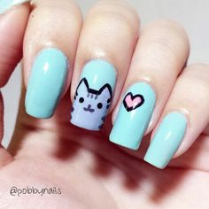 PUSHEEN NAILS! :) check out http://instagram.com/p/jCILMEhel4/