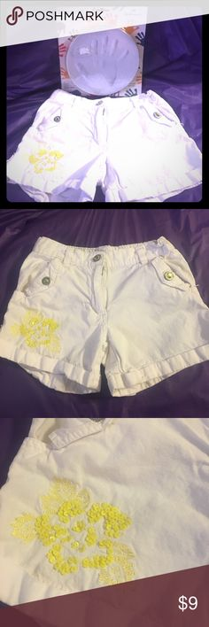 🎉LilliPut shorts and Handprint kit Girls shorts & New Hallmark Handprint set...shirts are size 7/8 and are in great condition: a few Rhine stones missing on back pockets & Brand New Hallmark Handprint Kit which makes a cement mold of child's hand. LilliPut Bottoms Shorts