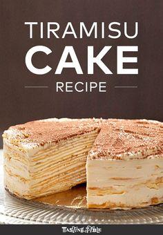 Mille-Crepe Tiramisu Birthday Cake from Francisco Migoya