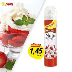 Hasta el 25 de febrero, oferta especial en nata Pascual! Ideal para acompañar las fresas, ¡en plena temporada!