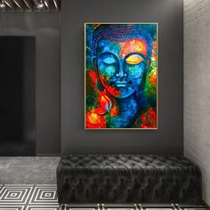 """Modern Buddhism Posters and Prints Wall Art Canvas Painting Wall Decoration Lord Buddha Pictures For Living Room Wall Frameless"" Abstract Canvas Wall Art, Canvas Wall Art, Buddha Painting Canvas, Canvas Art Prints, Wall Art Canvas Painting, Buddha Wall Art, Painting, Buddha Canvas, Canvas Painting"
