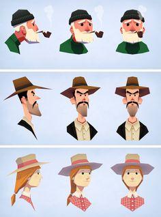 3 busts by *DmitryGrebenkov on deviantART  #DmitryGrebenkov #characterdesign