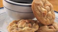Cashew-White Chocolate Drops Blend cashews and chunks of white chocolate into rich cookie dough for a delicious dessert.