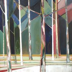 "Saatchi Art Artist Charlotte Evans; Painting, ""wood for the trees"" #art"
