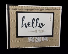 "Handmade card using the ""Hello"" 2016 Sale-a-Bration Stamp Set from Stampin' Up! #SIP26"