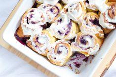 Bosbessen cheesecake rolls - Zoetrecepten