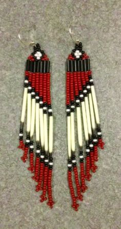Native American Beaded Earrings Original by prettyuniquedesigns2, $10.00